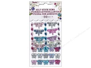 2013 Crafties - Best Adhesive: Self-Adhesive Rhinestones Dragonfly, Marquise & Butterfly Periwinkle 46 pc.