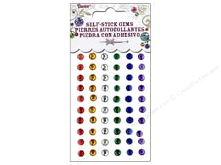 Jewelry Making Supplies Holiday Sale: Self-Adhesive Rhinestones by Darice 5mm Round Primary 78 pc.