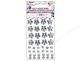 Self-Adhesive Rhinestones Assorted Flowers Clear 52 pc.