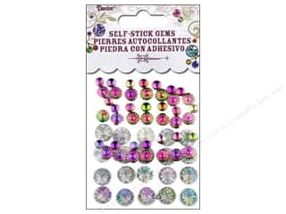Jewelry Making Supplies Holiday Sale: Self-Adhesive Rhinestones by Darice Assorted Round Aurora Borealis Holographic 63 pc.