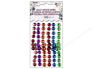 Plastics Beading & Jewelry Making Supplies: Self-Adhesive Rhinestones by Darice 7mm Round Juicy Jewel 78 pc.