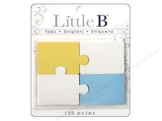 Adhesive Tabs Tags: Little B Adhesive Tabs Puzzle Pieces