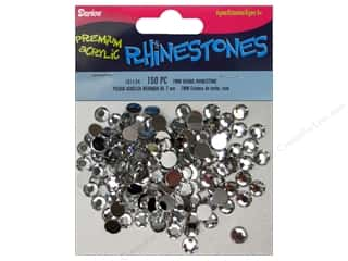 Rhinestones Beading & Jewelry Making Supplies: Darice Acrylic Rhinestone 7 mm Round Crystal 150 pc.