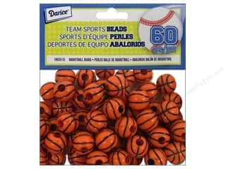 Beading & Jewelry Making Supplies $1 - $2: Darice Team Sport Beads Basketball 1/2 in. 60 pc.