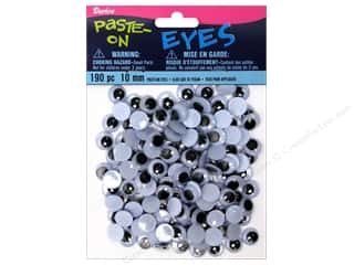 Doll & Animal Eyes Animals: Googly Eyes by Darice Paste-On 10 mm Black 190 pc.