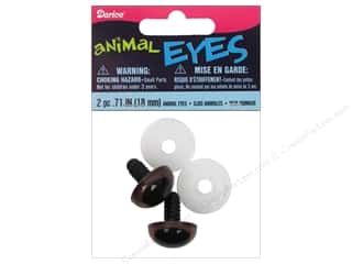 eyes w/ washer: Darice Animal Eyes with Washers 18 mm Brown 2pc.