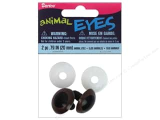 Doll Making mm: Darice Animal Eyes with Plastic Washers 20 mm Brown 2 pc.