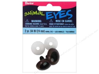 Doll Making mm: Darice Animal Eyes with Plastic Washers 24 mm Brown 2 pc.