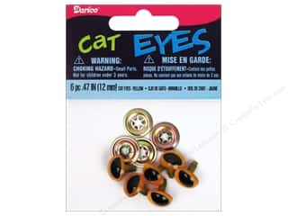 Holiday Sale Doll Making: Darice Cat Eyes with Metal Washers 12 mm Yellow 6 pc.