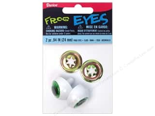 eyes w/ washer: Darice Frog Eyes with Metal Washers 24 mm Green 2 pc. (3 packages)