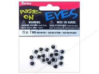 Toys Darice Craft Eyes: Googly Eyes by Darice Paste-On 7 mm Black 20 pc. (3 packages)