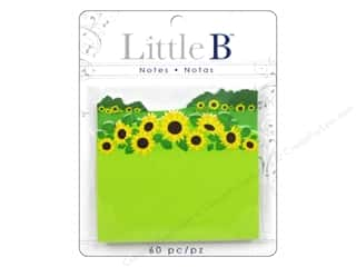Little B, Inc Note Cards: Little B Adhesive Notes Sunflowers