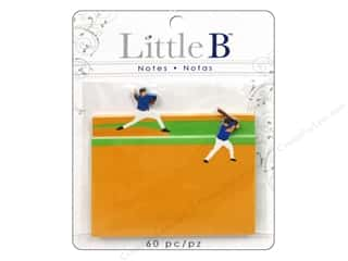 Little B Adhesive Notes Baseball