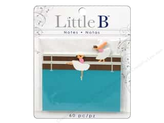 Think Pink Brown: Little B Adhesive Notes Ballerina