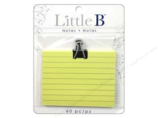 Little B Adhesive Notes Black Clip