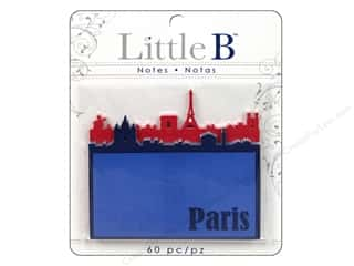 Note Cards Vacations: Little B Adhesive Notes Paris Night