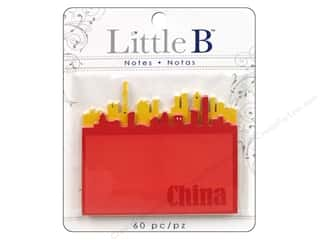 Note Cards Vacations: Little B Adhesive Notes China Scenery