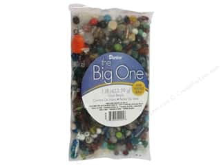 Flowers / Blossoms Beading & Jewelry Making Supplies: Darice Glass Beads Big Value Assorted 1 lb.