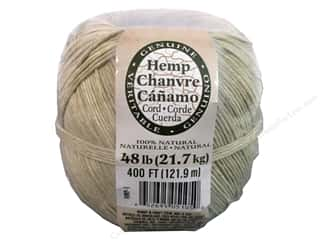 Jewelry Making Supplies Gifts & Giftwrap: Darice Hemp Cord 48#  400 ft. Natural