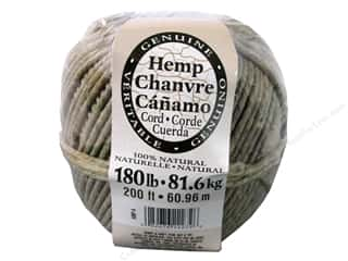 Darice Hemp Cord 180# 200 ft. Natural