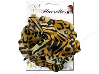 Mark Richards Fluerettes Flower Satin Tiger Black/Beige