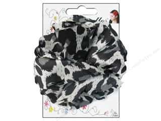 Mark Richards Fluerettes Flower Satin Leopard Black/Silver