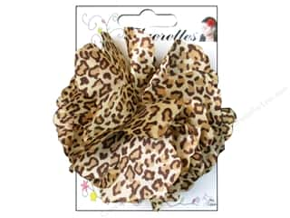 Mark Richards Fluerettes Flower Satin Cheetah Brown