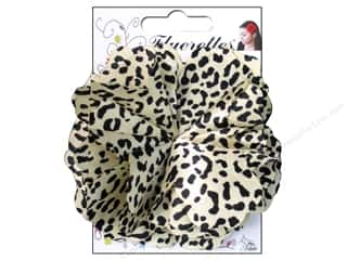 Mark Richards $5 - $6: Mark Richards Fluerettes Flower Satin Cheetah Black/Beige