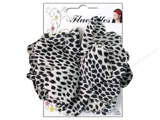 Mark Richards Fluerettes Flower Satin Jaguar Black/White