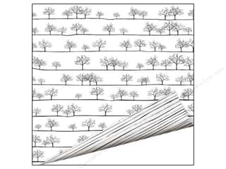 Imaginisce Paper 12 x 12 in. Black Ice Tree Line (25 piece)