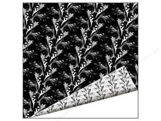 Beadalon Clearance Crafts: Imaginisce Paper 12 x 12 in. Black Ice Marbled Vine (25 pieces)