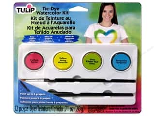 Fabric Painting & Dying Crafting Kits: Tulip One-Step Watercolor Dye Kit Bright