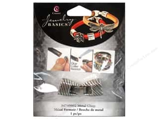 Cousin Corporation of America Jewelry Making: Cousin Findings Slide Clasp Metal Stripe Silver