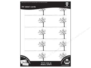 Avery Dennison 8.5 x 11: Imaginisce Cards Black Ice Tree Line 30pc