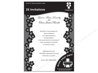 "Note Cards $7 - $22: Imaginisce Cards Black Ice Invitation Sakura 5""x 7"" 25pc"