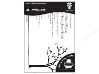 "Cards Black: Imaginisce Cards Black Ice Invitation Tree Line 5""x 7"" 25pc"