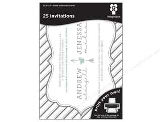 "Note Cards $7 - $22: Imaginisce Cards Black Ice Invitation Striped 5""x 7"" 25pc"