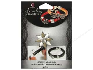 Leather Supplies Stars: Cousin Charm Slide Metal Star Silver/White