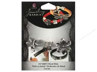 Insects $0 - $3: Cousin Charm Slide Metal Dragonfly/Flower Silver 3pc