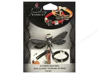 Insects $0 - $2: Cousin Charm Slide Metal Dragonfly Silver
