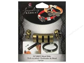 Charms and Pendants $0 - $2: Cousin Charm Slide Metal Bar With Cuts Gold 3pc