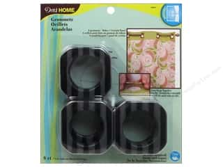"1 9/16"" curtain grommets: Dritz Home Curtain Grommets 1 9/16 in. Black Stripe 8pc"
