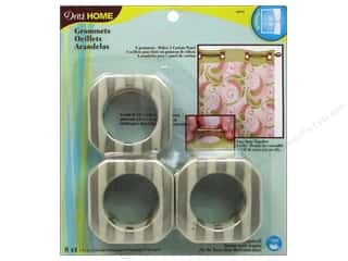 Dritz Curtain Grommets 1 9/16 in Champagne Stripe 8pc