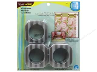 "1"" curtain grommets: Dritz Home Curtain Grommets 1 9/16 in. Square Pewter Stripe 8pc"