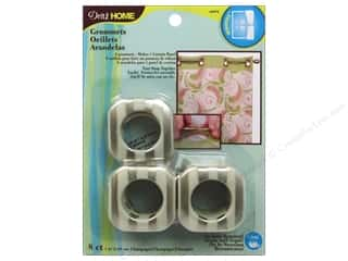 Dritz Curtain Grommets 1 in Square Champagne Stripe 8pc