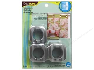 Dritz Curtain Grommets 1 in. Square Pewter Stripe 8pc