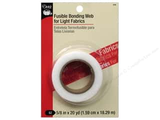 Fusible Web: Fusible Web by Dritz for Light Fabrics White 5/8 in. x 20 yd.