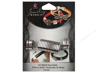 Charms and Pendants $0 - $2: Cousin Charm Slide Metal Bar With Stripe Silver 3pc