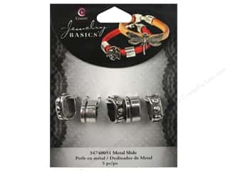 Charms and Pendants $0 - $2: Cousin Charm Slide Metal Spacer With Dots Silver 5pc