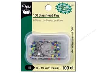 Glass Head Pins by Dritz Size 20 100 pc.